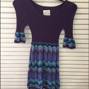 Girls size 12 Justice sweater dress
